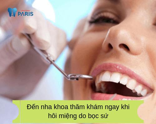 Bọc răng sứ có hôi miệng không? gặp bác sĩ để chữa trị