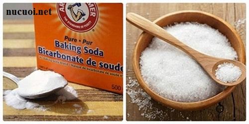 Cách làm trắng răng bằng muối và baking soda.