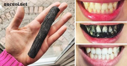 Dùng than hoạt tính hoặc than củi trộn với muối để tẩy trắng răng là cách được nhiều người truyền tai nhau.