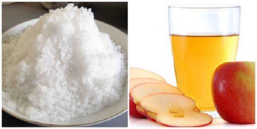 Muối và dấm táo có công dụng tẩy trắng siêu hiệu quả bạn phải thử ngay.