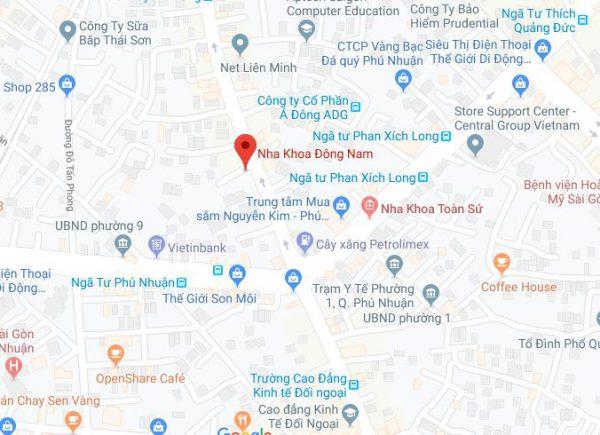 Chỉ đường tới Nha khoa Đông Nam Nguyễn Kiệm