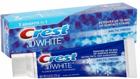 Kem đánh răng Crest 3D White Arctic Fresh